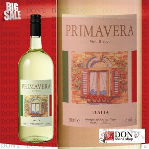 (白ワイン)  プリマベーラ ビアンコ イタリア 白ワイン 1500ml