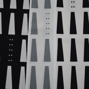 生地 W巾ブッチャー プリント 北欧 モノトーン ウィンドペン チェック柄 生地幅157cm
