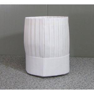 シェフハット コック帽子角型 (紙帽子)10枚セット|dondon