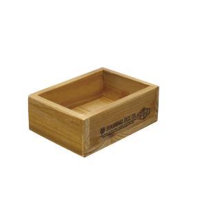 現代百貨 ウッド素材 ラスティック ミニボックス H761 (収納ボックス)|donguri-tree