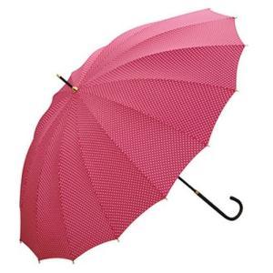 w.p.c ワールドパーティー スタンダード 全4色 長傘 手開き ピンク 16本骨 55cm 正規代理店品 (レディース 雨傘 雨具 おしゃれ ラッピング不可) donguri-tree