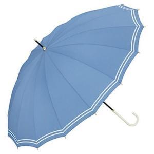 w.p.c ワールドパーティー スタンダード 全3色 長傘 手開き ブルー 16本骨 55cm 正規代理店品 (レディース 雨傘 雨具 おしゃれ ラッピング不可) donguri-tree
