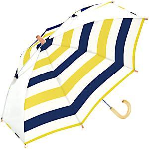 w.p.c ワールドパーティー 傘 キッズ アンブレラ ボーダー イエロー 45cm WK45-034 (雨具 女の子 子供用 かわいい レディース 雨傘) donguri-tree