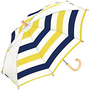 w.p.c ワールドパーティー 傘 キッズ アンブレラ ボーダー イエロー 40cm WK40-034 (雨具 女の子 子供用 かわいい レディース 雨傘) donguri-tree