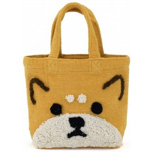 トモコーポレーション 動物 ぽこもこバッグ かわいい キャンバス トートバッグ キャンバス生地 可愛い 柴犬|donguri-tree