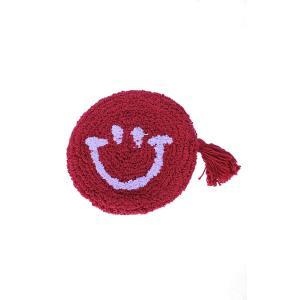 トモコーポレーション ポーチ もこもこスマイル小物ポーチ メイクポーチ 小物入れ ファッションポーチ Red|donguri-tree