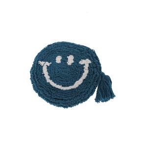 トモコーポレーション ポーチ もこもこスマイル小物ポーチ メイクポーチ 小物入れ ファッションポーチ Blue|donguri-tree
