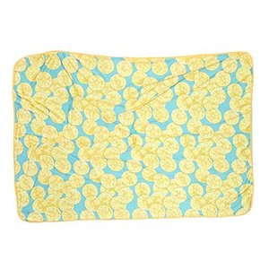 カラー:レモン 表がひんやりとした接触冷感素材のかわいい夏用ブランケットのMサイズ。 裏はパイル生地...