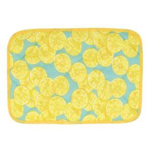 カラー:レモン 表がひんやりとした接触冷感素材のかわいい夏用枕カバー。寝苦しい暑い夏におすすめ。■■...