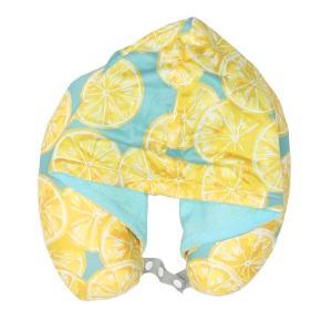 カラー:レモン ひんやりとした接触冷感素材のかわいい夏用ネックピロー。低反発クッションが心地よく、フ...