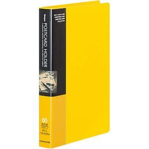 KOKUYO コクヨ ファイル ポストカードホルダー 固定式 A6 30ポケット 最大60枚収容 黄...