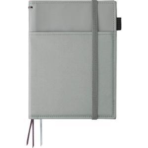 色:レザー調 グレー ●ノートやスケジュール帳などの2冊収容に最適なカバーノートです。 ●従来のカバ...