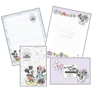 SUNSTAR サンスター文具 レターセット ディズニー キャラパレ 01 ミッキー&ミニー S2037181 × 5本|donguri-tree