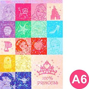 SUNSTAR サンスター文具 Disney Note A6 Princess × 5本|donguri-tree