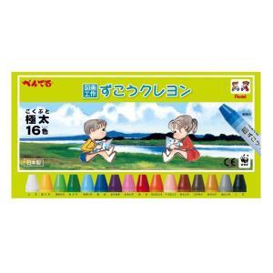 スタイル:16色 |  パターン:ずこうクレヨン 普通の紙だけでなく、プラスチックやガラス、発泡スチ...