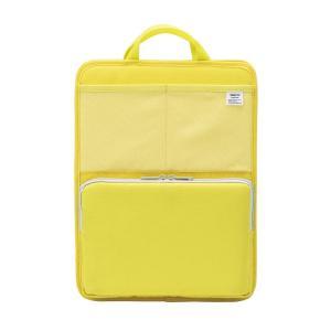 色:イエロー ?|? スタイル:タテ型 自立もできるバッグインバッグ。ノマドワーキングにも便利。底板...