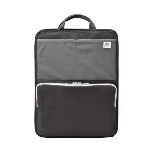 色:ブラック ?|? スタイル:タテ型 自立もできるバッグインバッグ。ノマドワーキングにも便利。底板...