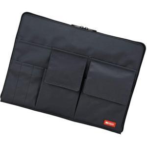 色:黒 商品紹介 カバンの中でかさばらない薄型タイプ! ●大きくコの字に開くメインポケット ●すぐに...