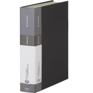 KINGJIM キングジム クリアーファイル シンプリーズ A4S 100P 136-5SP 黒