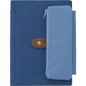 サイズ:A5 ?|? 色:青 ノートカバーとペンケースが一体になったアイテム。ペンケースは取り外しが...