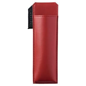 色:赤 ?|? スタイル:スリムタイプ マグネットの力でパチンとはさめるペンケース。 手帳やジャケッ...
