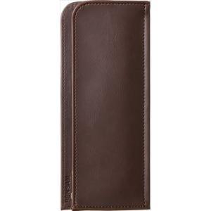 色:茶色 ?|? スタイル:フラットタイプ 【ノートや手帳にはさんで、一緒に持ち運べるペンケース】 ...
