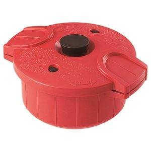 SKATER スケーター 圧力鍋 電子レンジ専用 極み味 レッド 日本製 MWP1 (電子レンジ 赤 red)|donguri-tree