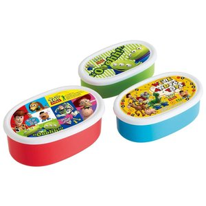 SKATER スケーター シール 保存容器 3Pセット トイストーリー 17 ディズニー 日本製 SRS3S (保育園 幼稚園 ランチボックス タッパー お弁当箱 ピクサー 行楽)|donguri-tree
