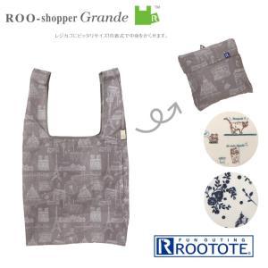ROOTOTE ルートート ルーショッパー GRD パターン-B (鞄 春夏 SHOPPER メンズ ファスナー付き サブバッグ eco お買い物袋 レジカゴ レディース)|donguri-tree