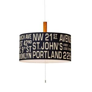 INTERFORM インターフォルム ペンダントライト Bus Roll Lamp バスロールランプ ブラック 適用畳数 ~6畳 LT-1121BK (新生活応援 照明 インテリア おしゃれ)|donguri-tree