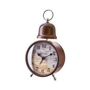 INTERFORM インターフォルム 置時計 クロシュ Croche 煉瓦調 アラーム ゴールド CL-1275GD (新生活応援 インテリア 置き時計 おしゃれ 北欧)|donguri-tree