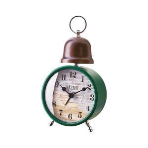 INTERFORM インターフォルム 置時計 クロシュ Croche 煉瓦調 アラーム グリーン CL-1275GN (新生活応援 インテリア 置き時計 おしゃれ 北欧)|donguri-tree