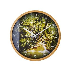 INTERFORM インターフォルム 電波掛け時計 フェリエール Ferriere 木枠 電波 グリーン CL-1370GN (新生活応援 インテリア 掛け時計 掛時計 かけ時計 壁掛け)|donguri-tree