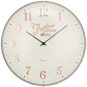 INTERFORM インターフォルム 電波掛け時計 ブリアック Bouliac ツートンカラー 電波 アイボリー CL-1374IV (新生活応援 インテリア 掛け時計 掛時計 かけ時計)|donguri-tree