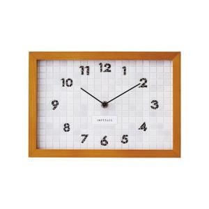 INTERFORM インターフォルム 掛け時計 ブランジー Blangy 木目調 ステップ ホワイト CL-1381WH (新生活応援 インテリア 掛時計 かけ時計 壁掛け おしゃれ 北欧)|donguri-tree