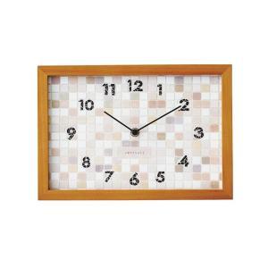 INTERFORM インターフォルム 掛け時計 ブランジー Blangy 木目調 ステップ ブラウン CL-1381BN (新生活応援 インテリア 掛時計 かけ時計 壁掛け おしゃれ 北欧)|donguri-tree