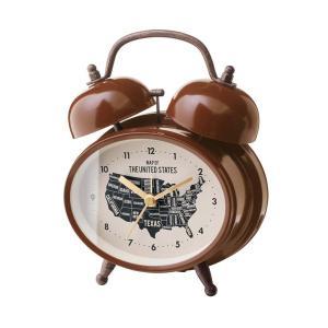INTERFORM インターフォルム 置き時計 ローゼルベル Rozel -Bell- ブラウン CL-1474BN (新生活応援 インテリア 置時計 おしゃれ 北欧 プラスチック)|donguri-tree