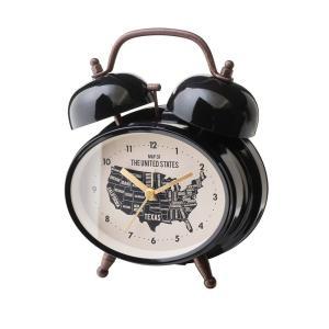 INTERFORM インターフォルム 置き時計 ローゼルベル Rozel -Bell- ブラック CL-1474BK (新生活応援 インテリア 置時計 おしゃれ 北欧 黒 プラスチック)|donguri-tree