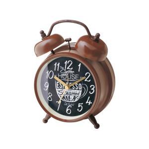 INTERFORM インターフォルム 置き時計 コーヒーブレイク Coffee Break ブラウン CL-1475BN (新生活応援 インテリア 置時計 おしゃれ 北欧 プラスチック)|donguri-tree