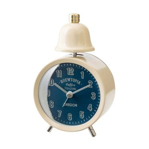 INTERFORM インターフォルム 置き時計 ブリアックベル Bouliac -Bell- アイボリー CL-1476IV (新生活応援 インテリア 置時計 おしゃれ 北欧 プラスチック)|donguri-tree