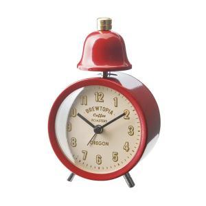 INTERFORM インターフォルム 置き時計 ブリアックベル Bouliac -Bell- レッド CL-1476RD (新生活応援 インテリア 置時計 おしゃれ 北欧 赤 red プラスチック)|donguri-tree