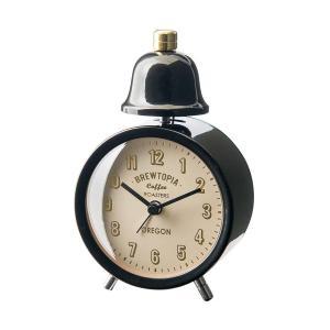 INTERFORM インターフォルム 置き時計 ブリアックベル Bouliac -Bell- ブラック CL-1476BK (新生活応援 インテリア 置時計 おしゃれ 北欧 黒 プラスチック)|donguri-tree