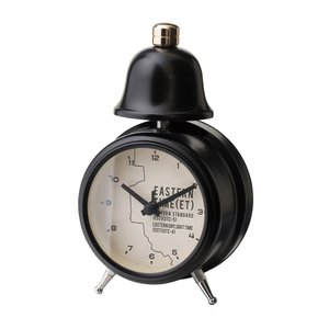 INTERFORM インターフォルム 置き時計 イースタンタイム Eastern Time ブラック CL-1477BK (新生活応援 インテリア 置時計 おしゃれ 北欧 黒 プラスチック)|donguri-tree