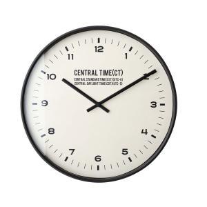 INTERFORM インターフォルム 電波掛け時計 セントラルタイム Central Time ブラック CL-1479BK (新生活応援 インテリア 掛け時計 掛時計 かけ時計 電波 壁掛け)|donguri-tree