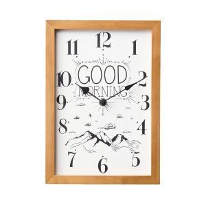 INTERFORM インターフォルム 掛け時計 メッセージクロック Good Morning & Good Night ナチュラル CL-1692 (新生活応援 インテリア 掛時計 かけ時計 壁掛け)|donguri-tree