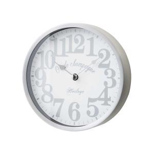 INTERFORM インターフォルム 掛け時計 リフォード Lifford ホワイト CL-1700WH (新生活応援 掛時計 かけ時計 壁掛け おしゃれ 北欧 音がしない 連続秒針 アルミ)|donguri-tree