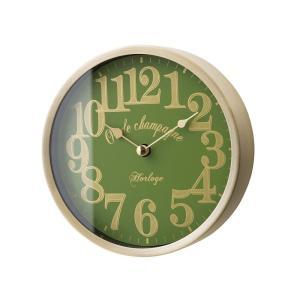 INTERFORM インターフォルム 掛け時計 リフォード Lifford グリーン CL-1700GN (新生活応援 掛時計 かけ時計 壁掛け おしゃれ 北欧 音がしない 連続秒針 アルミ)|donguri-tree