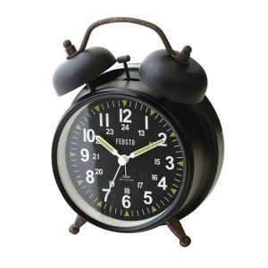 INTERFORM インターフォルム 置き時計 Garnock -Bell- ガーノック -ベル- ブラック CL-2144BK (新生活応援 インテリア 置時計 おしゃれ 北欧 黒 プラスチック)|donguri-tree