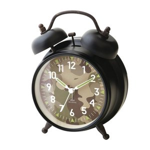 INTERFORM インターフォルム 置き時計 Dawlish -Bell- ダウリッシュ -ベル- ブラック CL-2145BK (新生活応援 インテリア 置時計 おしゃれ 北欧 黒 プラスチック)|donguri-tree