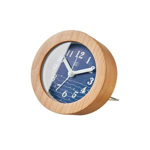 INTERFORM インターフォルム 置時計 Billow ビロー ネイビー CL-2963NV (新生活応援 インテリア 置き時計 おしゃれ 北欧)|donguri-tree